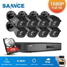 SANNCE 16 kanal CCTV güvenlik sistemi 16CH HD 1080P DVR 8 adet 1920*1080P IR açık kameralar 1.0MP Video gözetim kiti