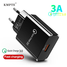 Quick Charge 3.0 Fast Charger For iPhone 11 X Samsung Xiaomi Mi 9 QC 3.0 Wall Mobile Phone USB Charger EU US Plug Adapter Charge eu us plug usb charger 3a quik charge 3 0 mobile phone charger for iphone 11 pro samsung xiaomi 3 port 45w fast pd wall chargers