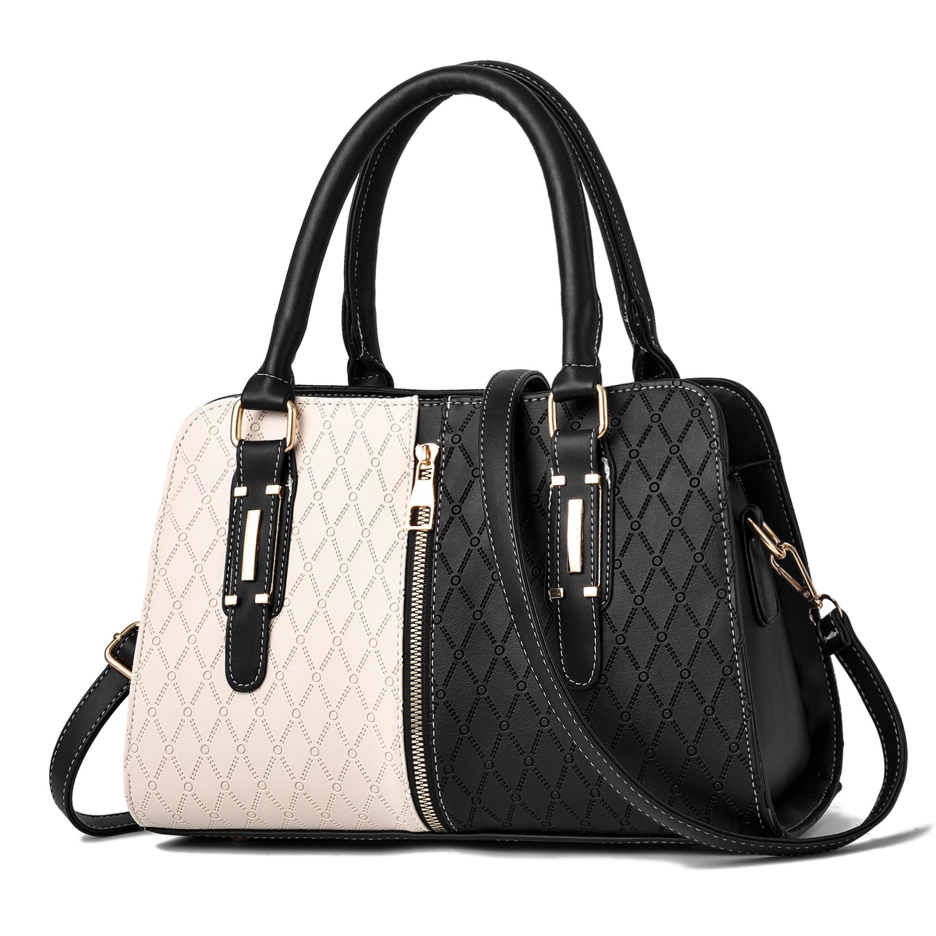Модные Роскошные сумочки, женские дизайнерские сумки в стиле пэчворк 2020, Черная мягкая мытая сумка-мессенджер через плечо из искусственной ...