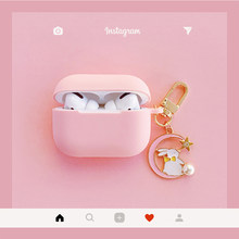 Cute Korean Rabbit Silicone Cover for Apple Airpods Pro Case Bluetooth Wireless Earphone Case for AirPods 3 Case Charging Box(China)