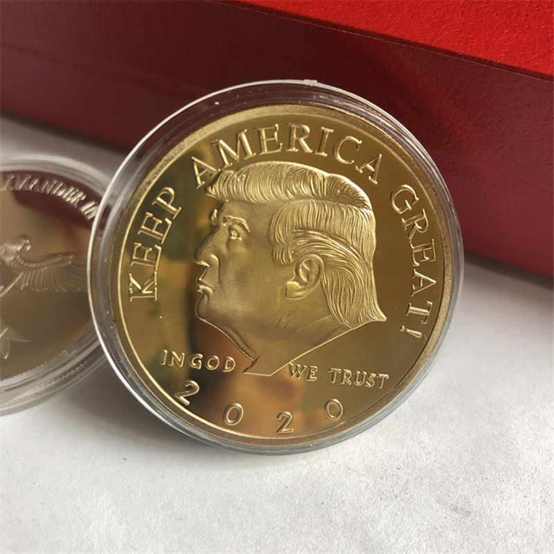 2020 président Donald Trump plaqué or/argent aigle Inaugural aigle d'or pièce commémorative nouveauté