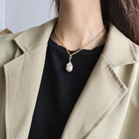 Real pearls necklace jewelry baroque irregular fresh water pearl 925 silver necklace kolye joyas de plata 925 colares