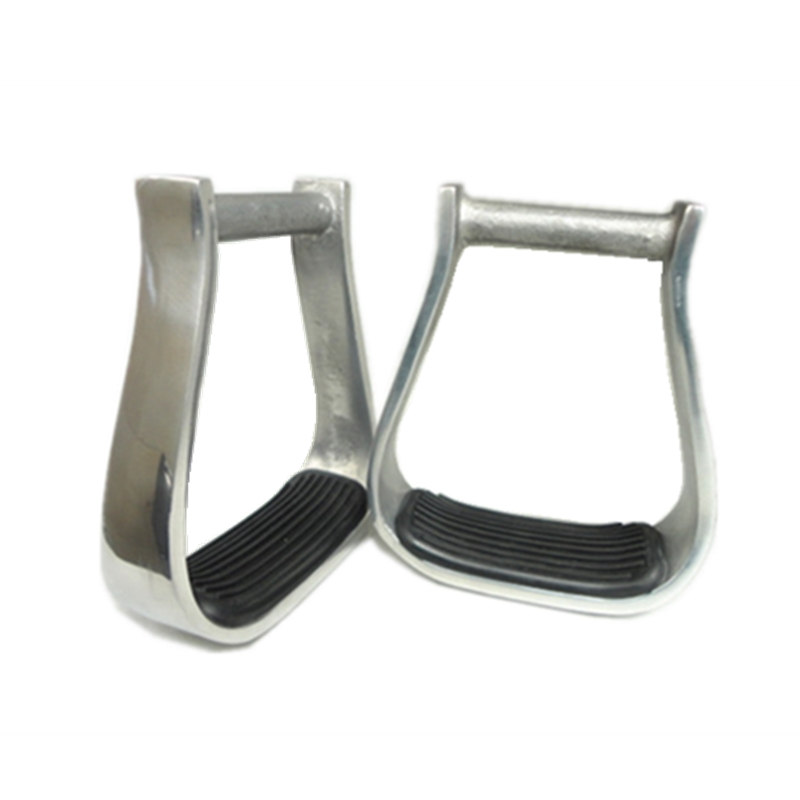 5 Inch Western Aluminum Barrel Racing Stirrups With Black Rubber Pad Horse Products F1011