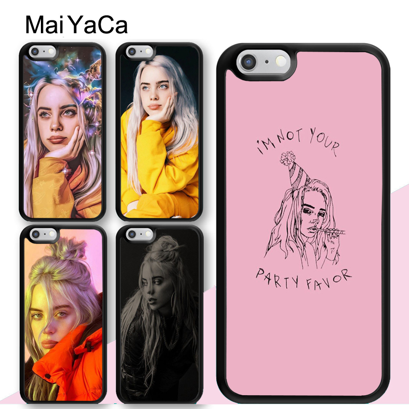 MaiYaCa Billie Eilish Lovely Hot Music Singer Star Case For iphone 11 Pro MAX X XR XS 6 6S 7 8 Plus SE 5S TPU Cover
