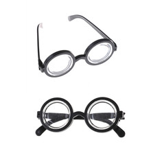 1PCS Circular Glass Minions Cosplay Costume Glasses Birthday Party Supplies Decoration Kids Funny Party Props