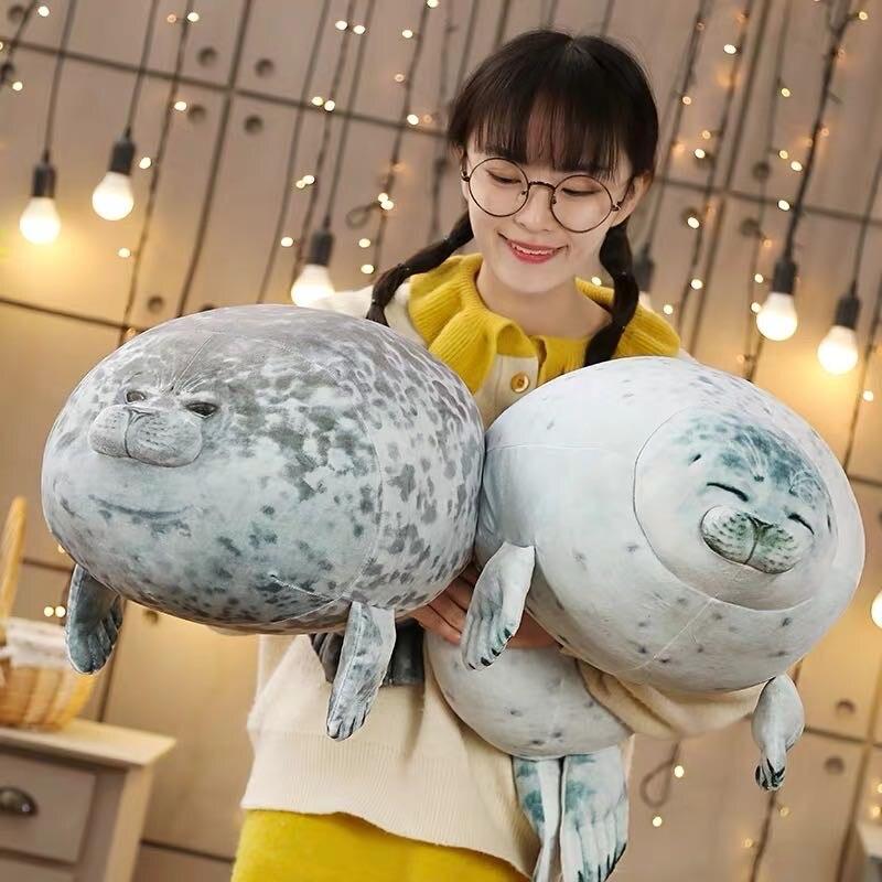 1 шт. Мягкий 60 см мягкий морской Лев плюшевый игрушечные лошадки морской мир Животные Печать Плюшевая Кукла детская подушка для сна Дети Девочки Подарки