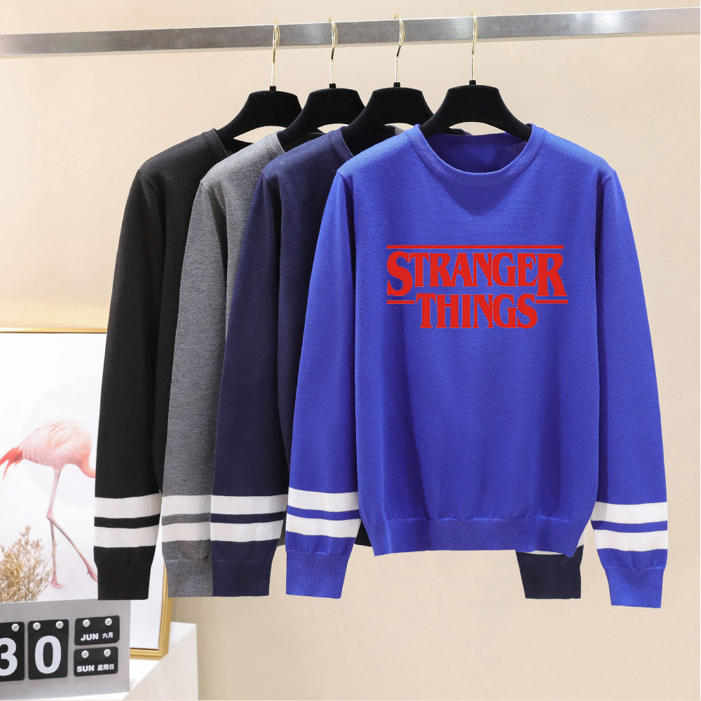Stranger Things Capless Hoody Men/women New Arrivals Fashion Print Autumn Winter Long Sleeve Warm Casual Knitted Casual Sweater