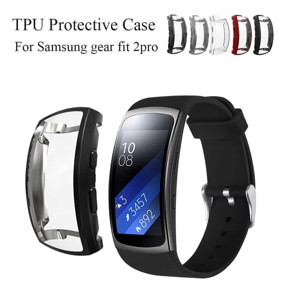 Para Samsung Gear Fit 2 PRO TPU funda cubierta banda deportiva ajuste 2 funda protectora Gearfit 2 Protección carcasa para Gear Fit 2 PRO