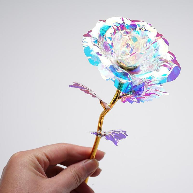 Подарок на день Святого Валентина креативный цвет Золотая роза светящийся искусственный цветок для Свадьбы вечерние украшения