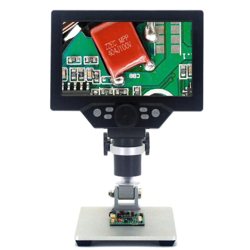 Tools : G1200 Electronic Digital Microscope 12MP 7 Inch Large LCD Display Soldering Continuous Amplification Magnifier Tool