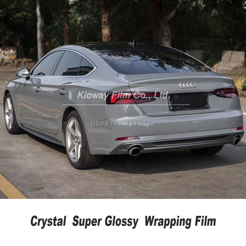 Höchste qualität Nardo grau Vinyl Wrapping film glänzend grau Wrapping Folie wrap folie Blase Freies qualität Garantie 5m/10m/18m