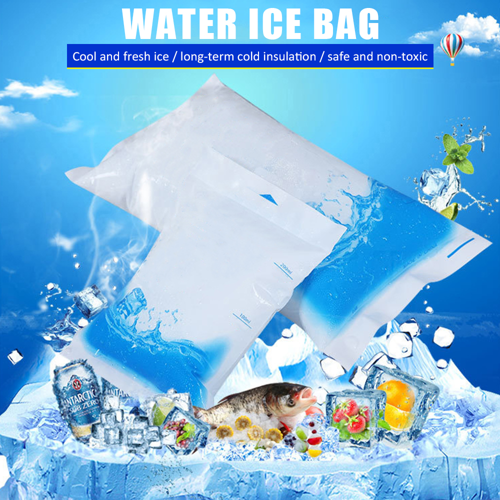 50 Pcs Cheap Insulated In-Customized Reusable Dry Cold <font><b>Ice</b></font> <font><b>Pack</b></font> Gel Cooler Bag For <font><b>Lunch</b></font> Box Food Cans Wine Medical image