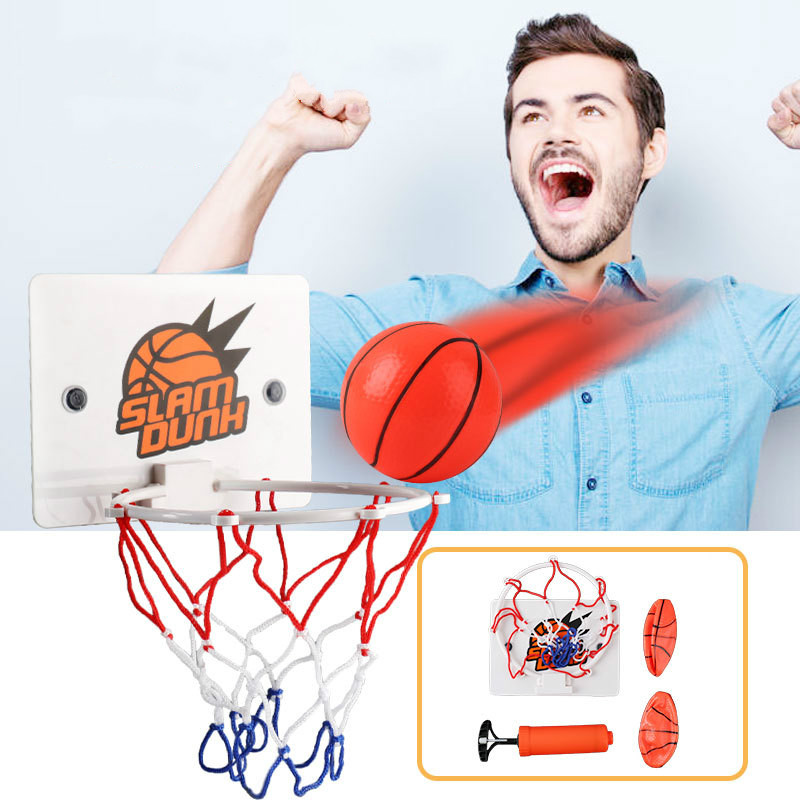 Portable Kit For Adults Kids Fans Funny Mini Basketball Toys Home Indoor Hoop Children Toy Basketball Game Sports Set