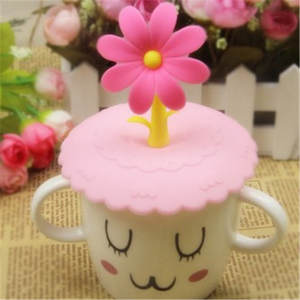Cup-Cover Spoon Creative Silicone Cute Love Coffee-Suction-Seal-Lid-Cap Child 1pcs Airtight