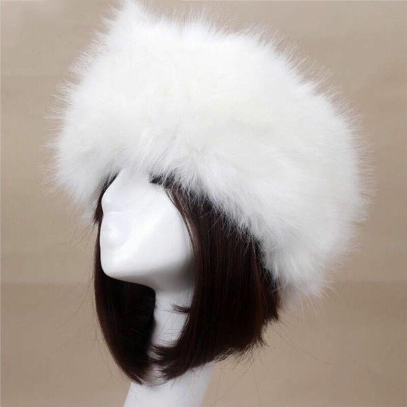 Hirigin, зимняя женская модная русская Толстая теплая шапка, Пушистая Шапка из искусственного меха, пустая верхняя шапка, головной платок