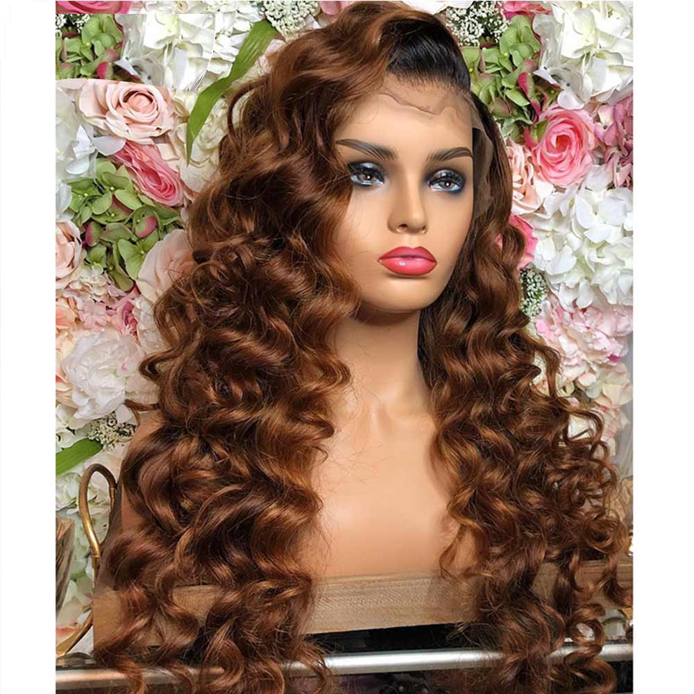 Transparent Lace Front Wig 13*4 Ombre Blonde Colored Brazilian Remy Body Wave Preplucked  Glueless Baby Hair For Women