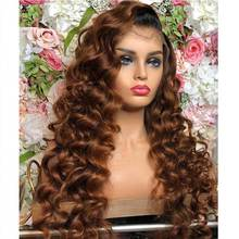 Wig Lace-Front Brazilian for Women Blonde Baby-Hair Body-Wave Transparent Glueless Colored