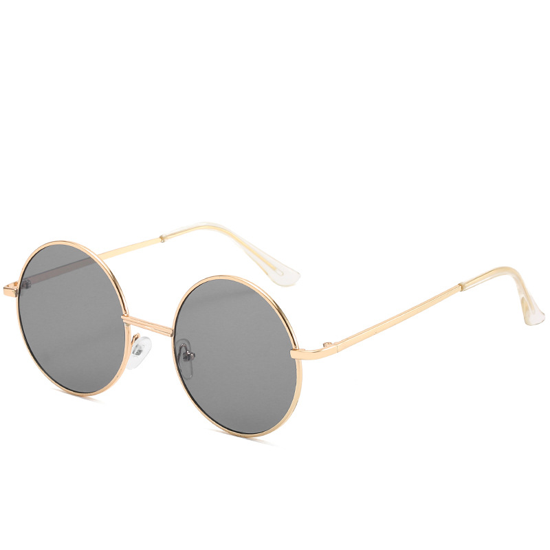 Trendy Round  Sunglasses Women Gradient Trend Ladies Outdoor Personality for Sun Glasses UV400