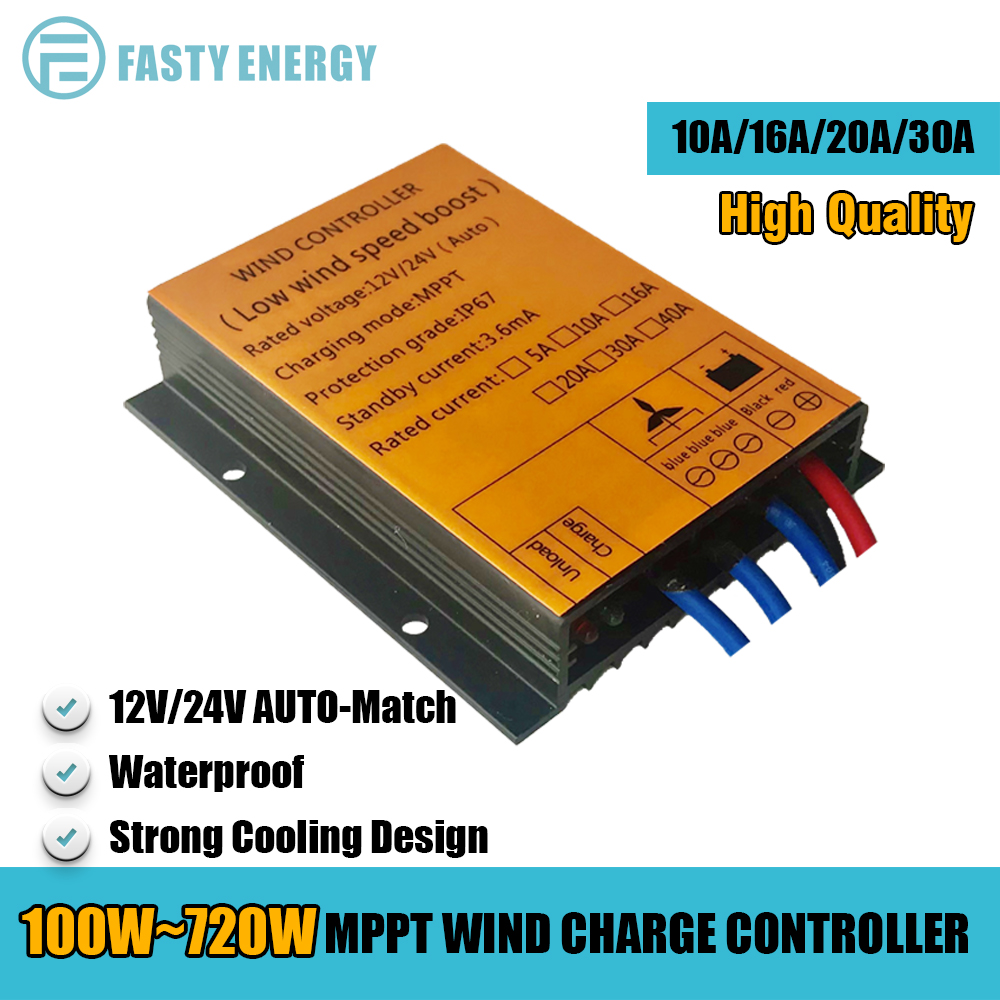 100-720W Hohe Qualität MPPT Wind Laderegler 12v/24v AUTO, niedrigen Wind Geschwindigkeit Boost, Wasserdicht, Hohe Wärme Ableitung Design