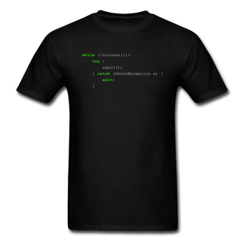 Newest Discount Men's T Shirt Programmer Code Algorithm of Success Computer IT Design Tshirts MasterCam Java Text T Shirt Black image