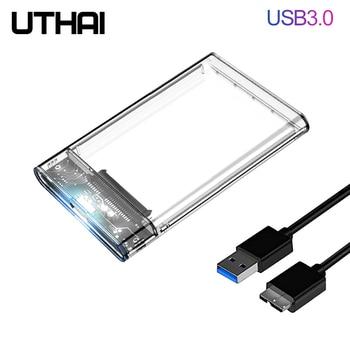 UTHAI G06 USB3.0/2.0 boîtier de disque dur 2.5 pouces Port série SATA SSD boîtier de disque dur prise en charge 6 to boîtier de disque dur externe Mobile transparent