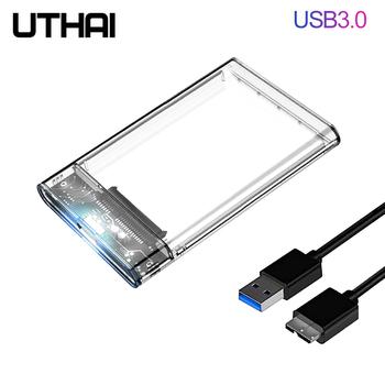 UTHAI G06 USB3 0 2 0 obudowa dysku twardego 2 5 cal portu szeregowego SATA SSD futerał na dysk twardy wsparcie 6TB przezroczyste komórkowy etui na dysk zewnętrzny tanie i dobre opinie CN (pochodzenie) 2 5 Z tworzywa sztucznego Mobile Hdd Enclosure For external SSD For Samsung HDD SSD 2 5 inch hard disk box