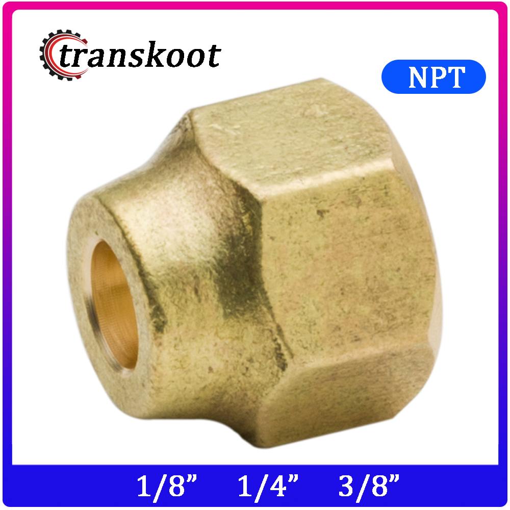 4pcs 2pcs Brass Fast Coupling Tube Hose Fitting SAE Flare Short Nut With NPT Female Thread For OD 1/4