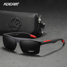 KDEAM Rectangular Ultra Light TR90 Sunglasses Men Polarized TAC 1 1mm Thickness Lens Driving Sun Glasses Women Sports Cat 3 cheap Rectangle Adult Plastic Titanium UV400 Anti-Reflective 45mm Polycarbonate KD101 Eyewear 63mm 20mm 132mm 147mm Round face Oval face Squared face Long face