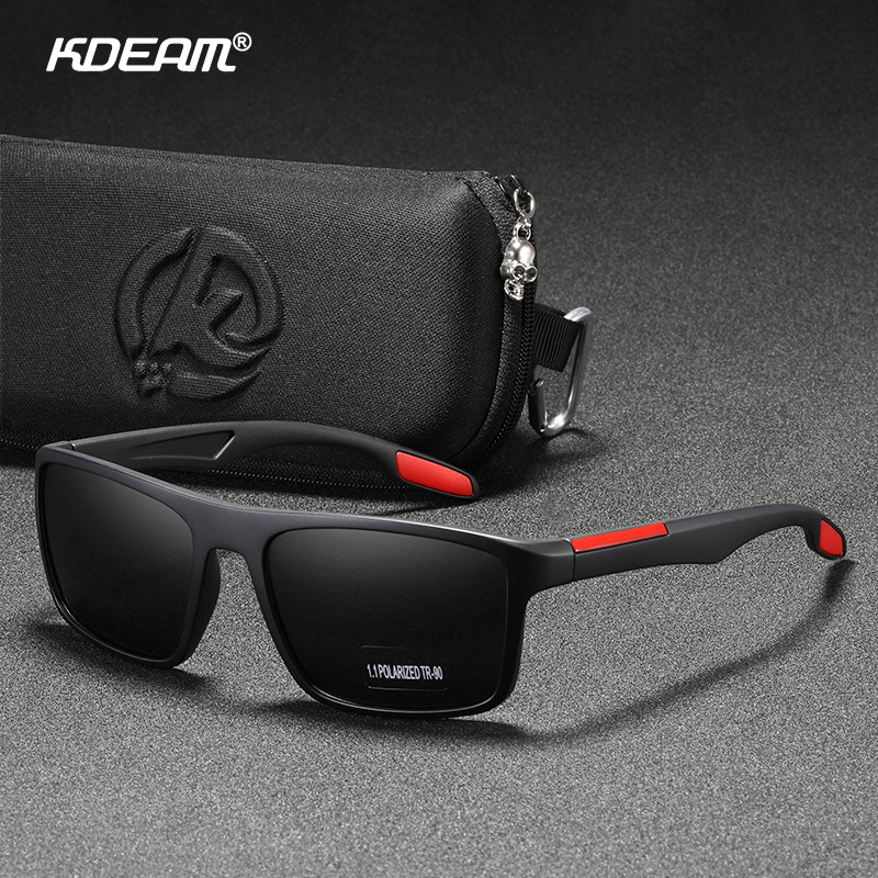 KDEAM Rectangular Ultra Light TR90 Sunglasses Men Polarized TAC 1.1mm Thickness Lens Driving Sun Glasses Women Sports Cat.3|Men's Sunglasses| - AliExpress