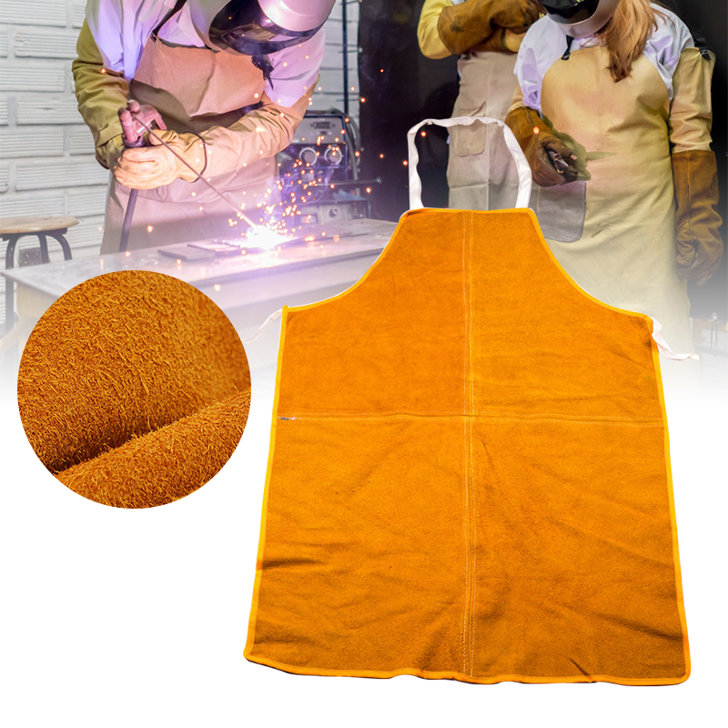 Large Cowhide Leather Welding Apron Welder Protective Clothing Mechanic Gear