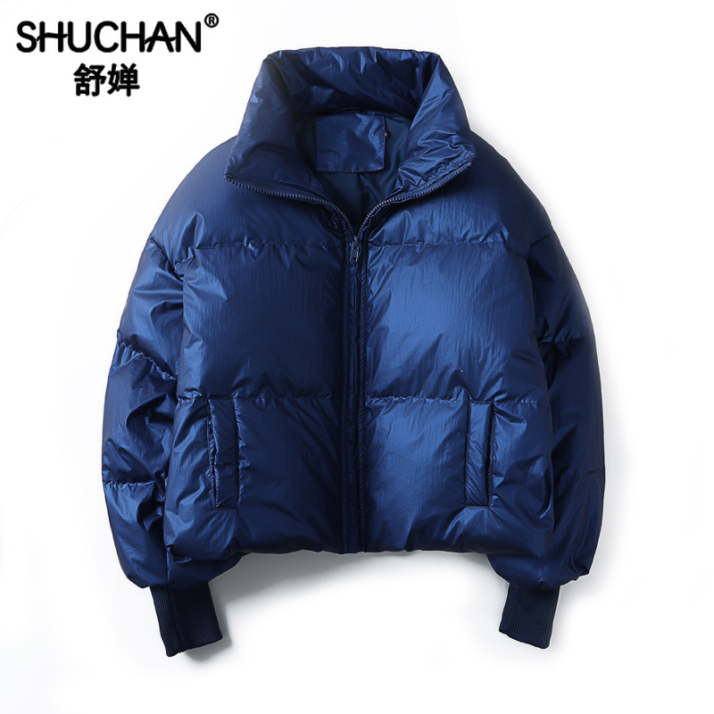 Shuchan Down Jacket Woman Oversize2019 Winter Women Down Coats Jackets Warm Woman Down Parka 90% White Duck Down Blue Yellow