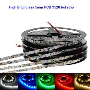 цена на DC12V 5M 3528 SMD led Strip Narrow Side 5mm Width High Brightness 60/120 leds/m White/Warm White/Blue/Red/Green Flexible Light