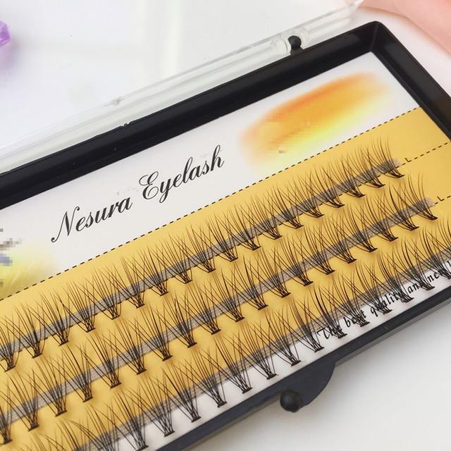 1box big capacity 60 bundles 6d 10D Eyelash Extensions 0.1mm Thickness true Mink Strip Eyelashes Individual Lashes Natural Style 6