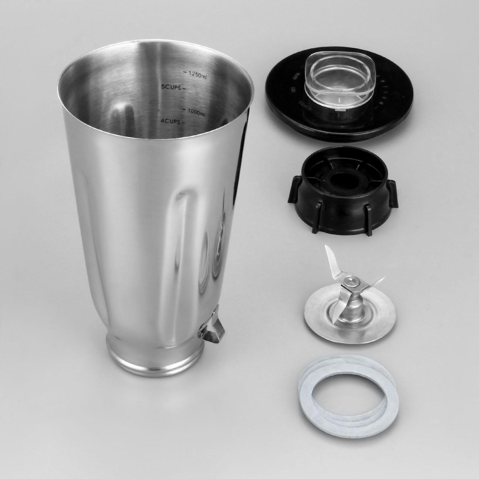 5 Cup Stainless Steel Blender Jar Set Complete 6 Piece SS Set Fits Oster