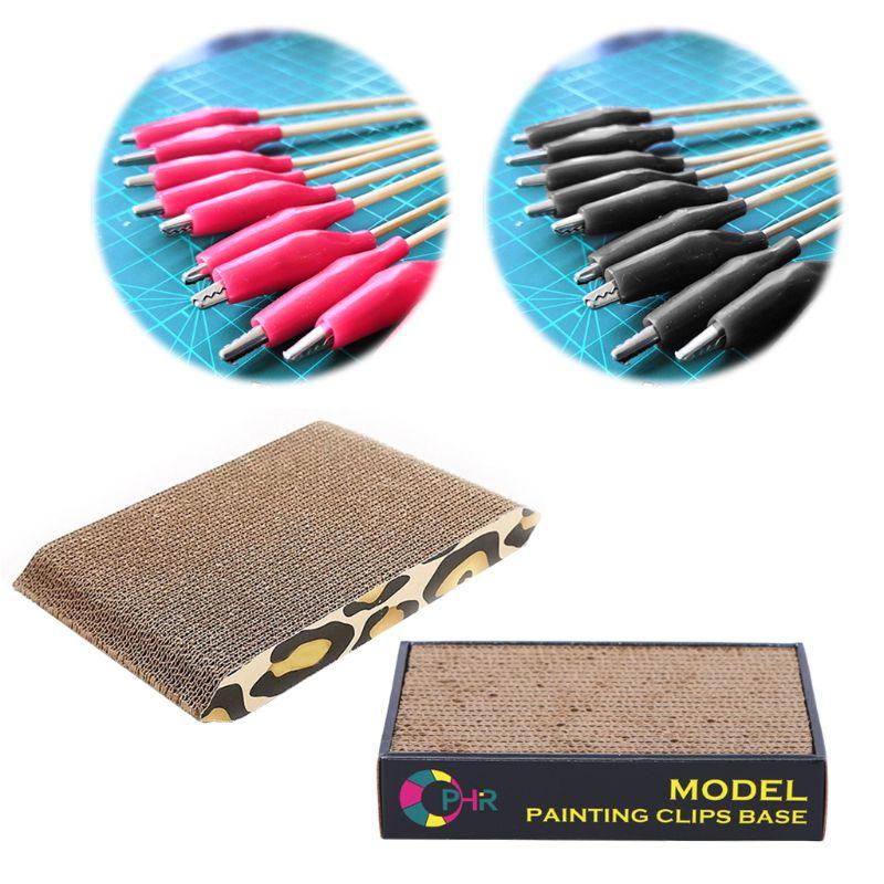 Model Painting Alligator Clip Sticks For Airbrush & Spray Hobby Tool Model Parts D08C