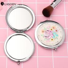 Дорожное зеркало для макияжа с увеличением 1x и 2x Портативное