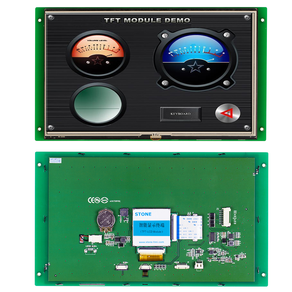 10.1 Inch 1024*600 Flexible LCD Display Electronic Control Module With UGI And MCU