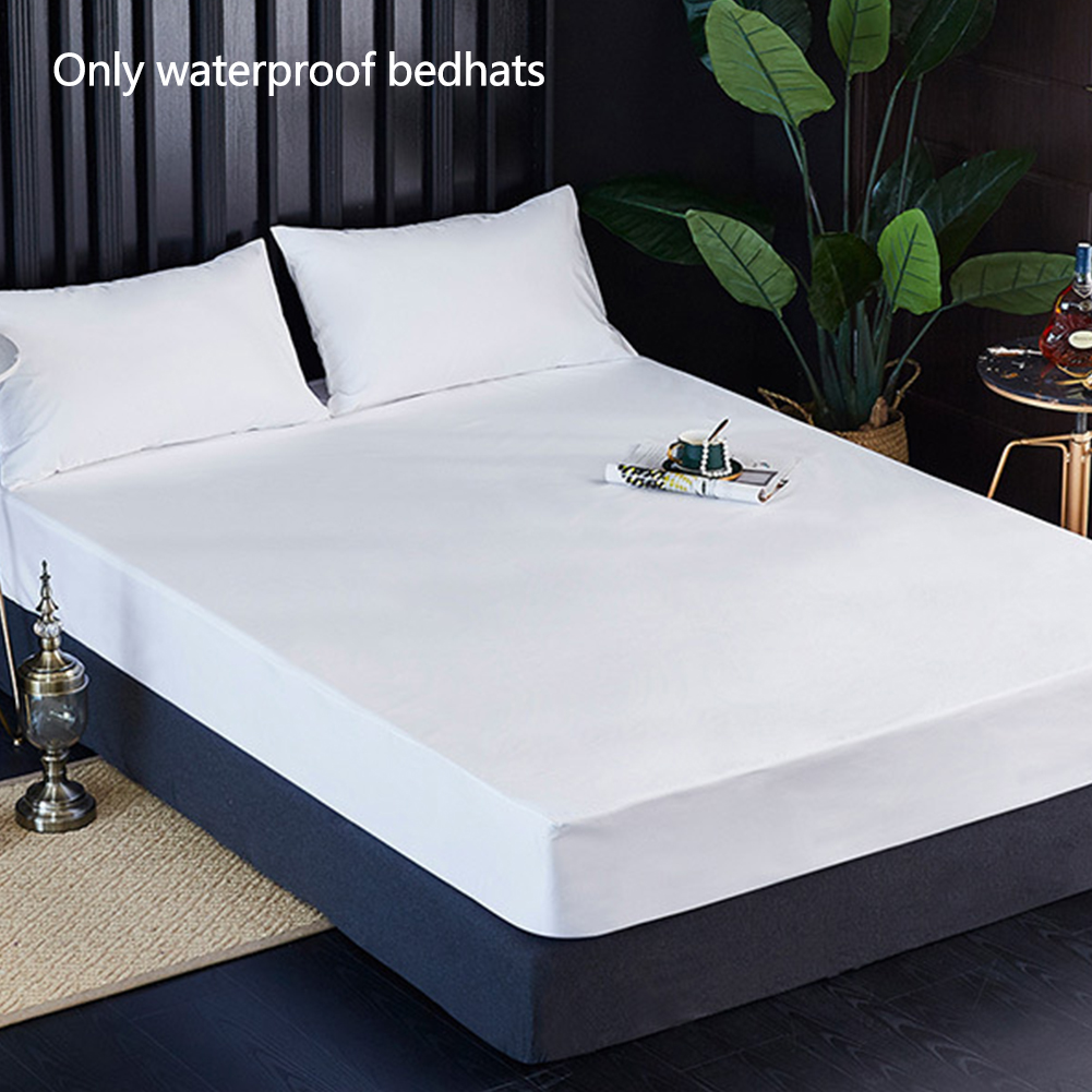 Home Accessories Solid Dustproof Bed Cover Hotel Infant Easy Use Waterproof Pad Elastic Band Anti-Mite Mattress Protector