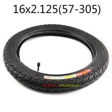좋은 품질 전기 자전거 타이어 16x2.125 인치 전기 자전거 타이어 자전거 타이어 내부 튜브 크기 16*2.125 구부러진 각도