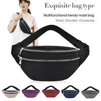 Damen Mode Taille Tasche Zipper Große Kapazität Männlichen Casual Sport Umhängetaschen Multifunktionale Schulter Tasche Für Frauen 2021 Neue