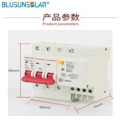 Автоматический выключатель остаточного тока RCBO 3P + N 20A 25A 30A 40A 50A 63A 230V ~ 50HZ/60HZ с защитой от перегрузки по току и утечки