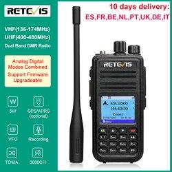 Retevis – walkie-talkie numérique RT3S DMR, station Radio Amateur VHF UHF double bande VFO GPS APRS double fente horaire, 5W