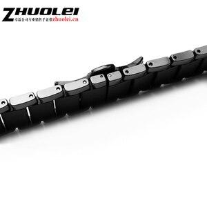 Image 2 - Dla AR1452 AR1451 ceramiczne watchband i przypadku 22mm 24mm wysokiej jakości czarny mężczyźni ceramiczne pasek bransoleta ceramiczna ze stali czarny deployment kompania bransoletka