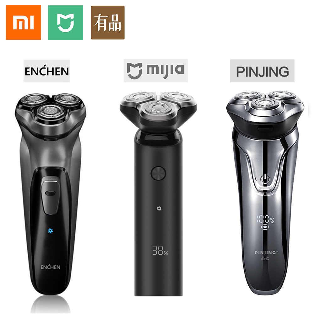 Xiaomi מכונת גילוח חשמלי זקן גילוח אלחוטי מכונת גילוח USB טעינה 3 ראש mens סכיני גילוח Mijia מתנות לגברים 5