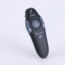 Presentador inalámbrico USB RF 2,4 GHz, puntero láser PPT, Control remoto para presentación de Powerpoint, reunión de enseñanza, bolígrafo láser, 1 ud.