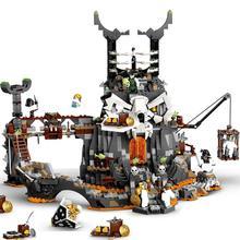 New 2020 TV Series Skull Sorcerer Dungeon Cole Season  Building Blocks Classic Model Sets Bricks Kids Kits 7184