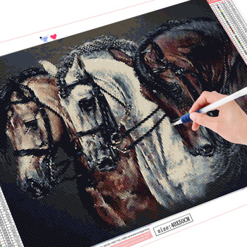 HUACAN 5d Diamond Painting Animals Beadwork Diamond Horse Embroidery Hobby And Handicraft Diamond Mosaic Full