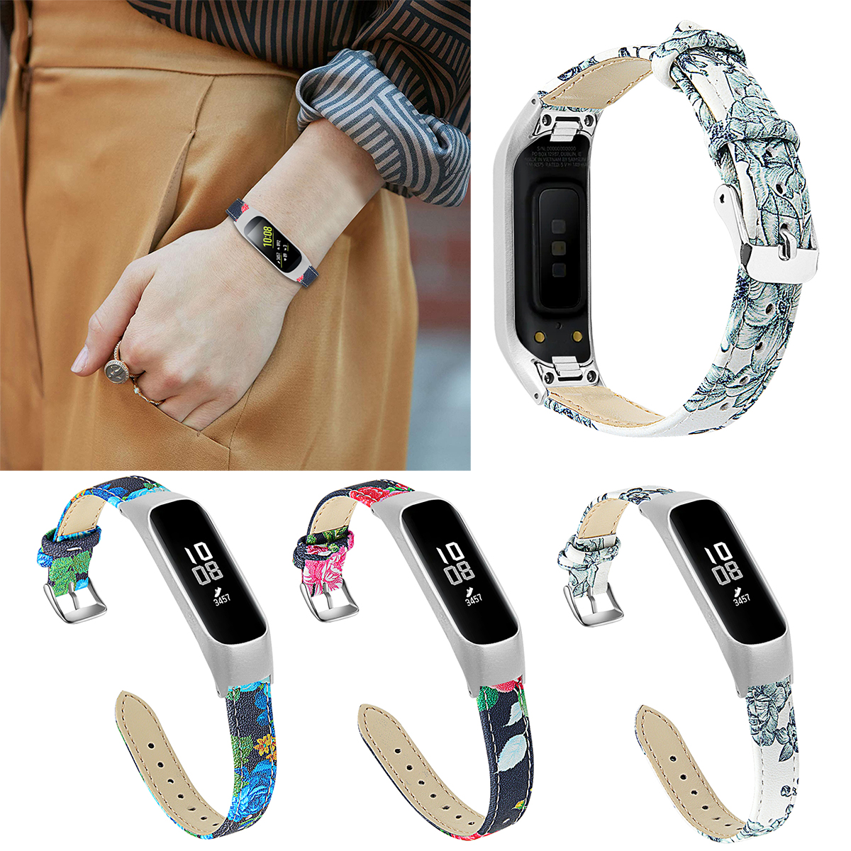 New Stainless Steel Watch Strap Wrist Band Strap For Samsung Galaxy Fit-e R375 Smart Bracelet Replacement Watch Band Strap
