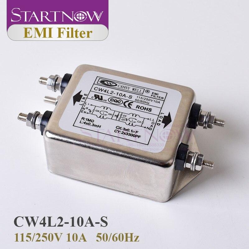 Startnow Power EMI Filter CW4L2-10A-S EMI Filter Single Phase 10A 115V 250V CW4L2 50/60HZ Free Shipping