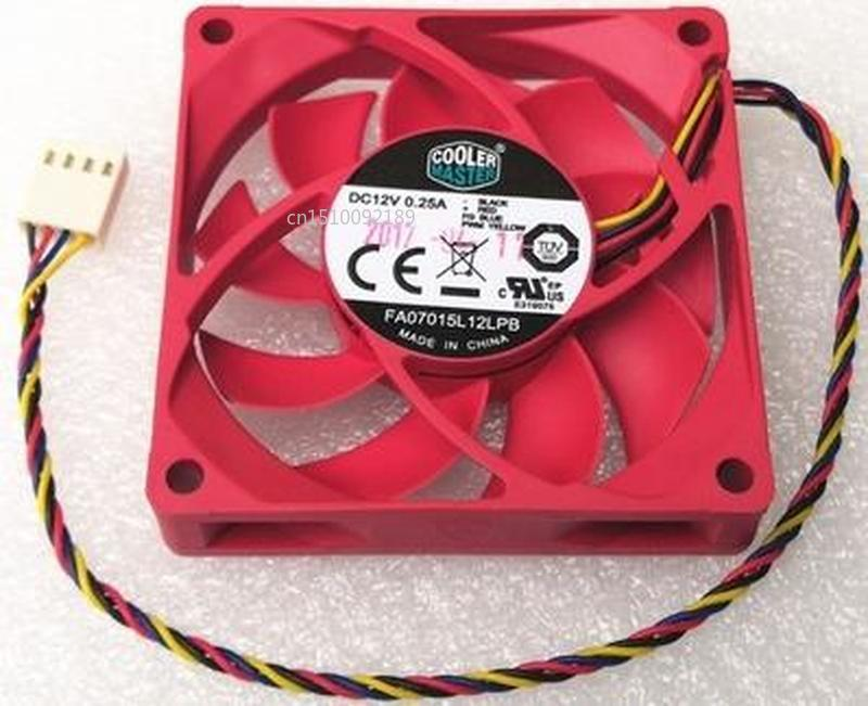 Genuine For COOLER MASTER FA07015L12LPB DC12V 0.25A 4pin 4wire 7015 70x70x15mm Cooling Fan Free Shipping